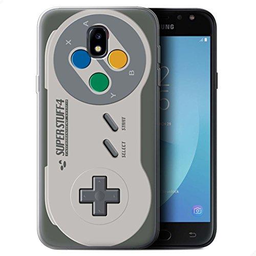 Preisvergleich Produktbild Stuff4 Gel TPU Hülle / Case für Samsung Galaxy J7 2017/J730 / Super Nintendo Muster / Spielkonsolen Kollektion
