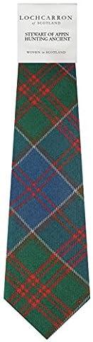 Stewart Of Appin Hunting Tartan (Ancient) Soft Pure Wool, Mens Tie