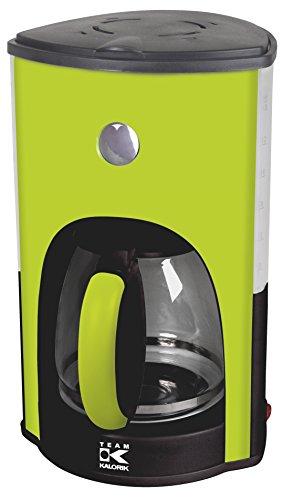 Team Kalorik Filter-Kaffeemaschine mit 1,8 l Fassungsvermögen, Glaskanne, Für bis zu 15 Tassen, 1000 W, Apfelgrün, TKG CM 1045 AG