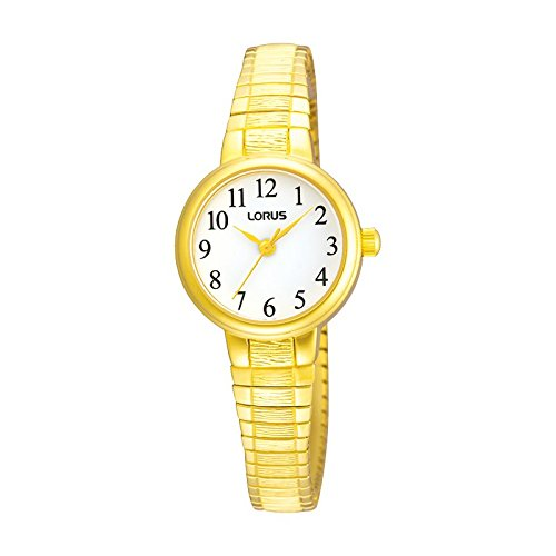 Lorus Ladies Gold Round Expandable Watch Rrs34tx9