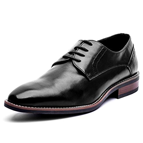 GOLAIMAN Herren Smart Brogue Schuhe Formal Casual Oxfords, Schwarz EU 40 -