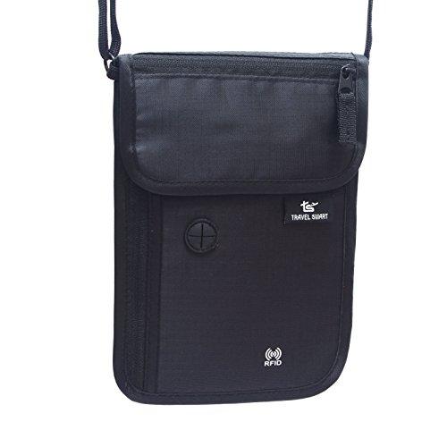 TravelSmart - Portadocumentos de cuello unisex adulto negro negro