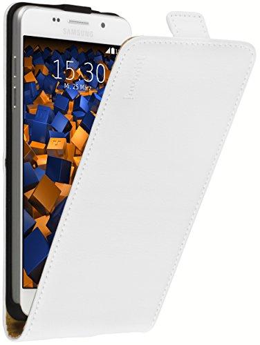 mumbi PREMIUM Leder Flip Case Samsung Galaxy A5 (2016) Tasche weiss (nicht für das Galaxy A5 - A500F von 2015)