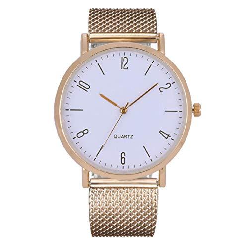 he Damen-Quarzuhr-Temperament-beiläufige Uhr-Frauen-Aluminiumlegierungs-Dornschließe-Art- und Weisewildes Armband ()