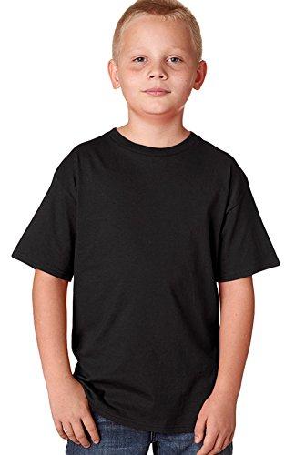 Hanes Youth Nano narrower Ribbed Collar T-Shirt Black