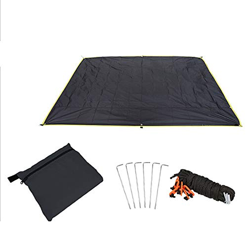 Warooma 1,5 m x 2,2 m Wasserdichte leichte Hängematte Regenfliegenzelt Sonnensegel Sonnenschutz für Camping, Rucksackreisen, Picknick