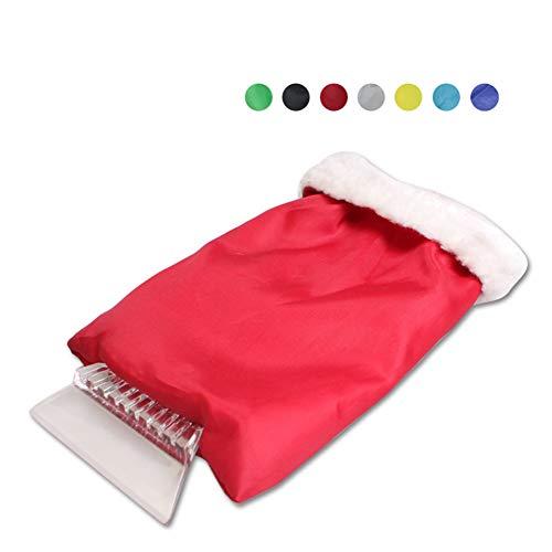 Gavux Eiskratzer für Windschutzscheibe, Schneeschaber mit wasserdichtem Handschuh, Schneeschaber für Autofenster (zufällige Farbe)