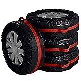 JOOFFF Reifenschutz Abdeckung Reifen Tote Abdeckung Faltbare Tragbare Ersatz Reifen Schutzbezüge Reifen Aufbewahrungsbeutel Schnee Radabdeckung für Auto, Size1#