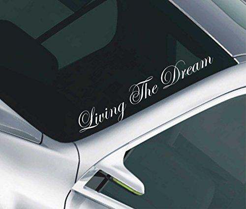 Living The Dream - Adesivo parabrezza macchina da drifting JDM assetto ribassato VW decal50 - Assetto Ribassato