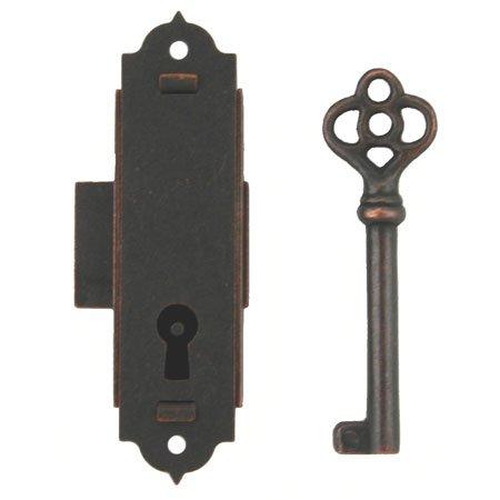 l-5Antik schmal Schrank Tür oder Fall Schloss oder Großvater Uhr