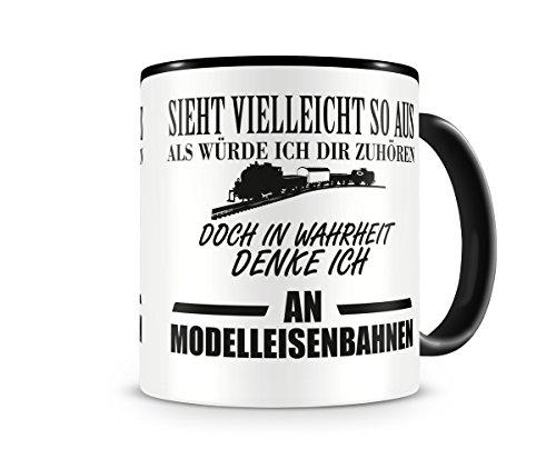 Ich denke an Modelleisenbahnen Tasse Kaffeetasse Teetasse Kaffeepott Kaffeebecher Becher
