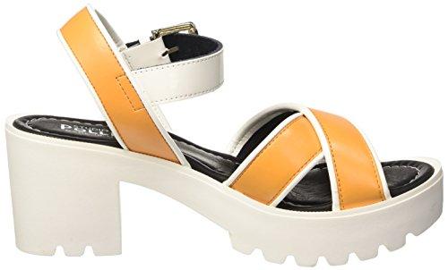 Pollini Sa16307g11tm, Chaussures à Talons avec Bride à La Cheville Femme Jaune (Ocra)