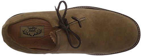 Trachtenrebell Eduard, Chaussures à lacets homme Marron (altgold)