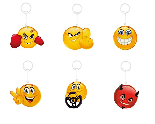 6X Deodorante per auto profumo Albero Auto Profumo Vaniglia Coole Smily smilies Emoji Emotico
