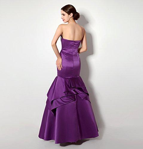 Bridal_Mall -  Vestito  - Senza maniche  - Donna Viola