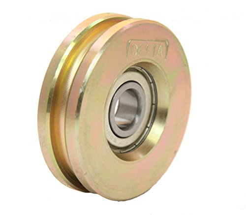 Gate wheel pulley wheel 60mm Round rope groove steel wheel for wire or rope Test