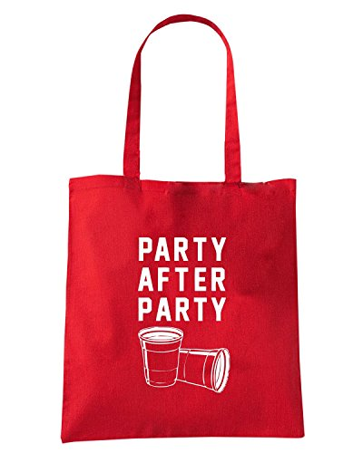 T-Shirtshock - Borsa Shopping FUN0184 07 22 2013 Party After Party T SHIRT det Rosso