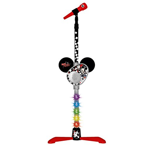 Mickey Mouse Micrófono de pie con amplificador y conexión a MP3 (Claudio Reig 5371)
