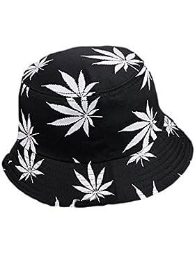 Drawihi, sombrero de algodón estampado, versión coreana, hoja de arce, sombrero Fischer de verano, algodón, Weiß...