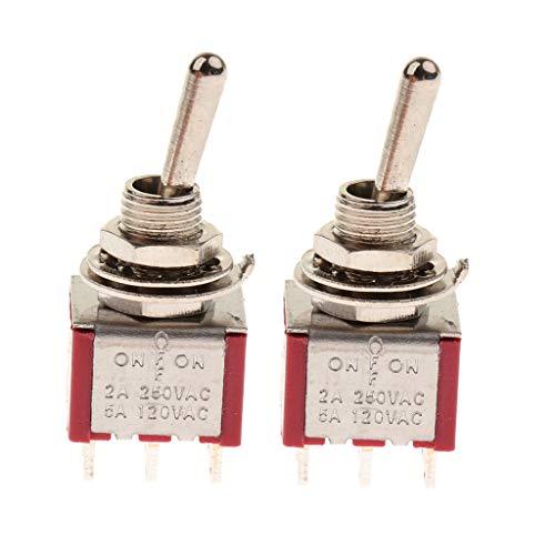 FLAMEER 2X Mini-Kippschalter Perfekt zum Ersetzen und Einstellen von Lautstärkereglern - 3-Wege -