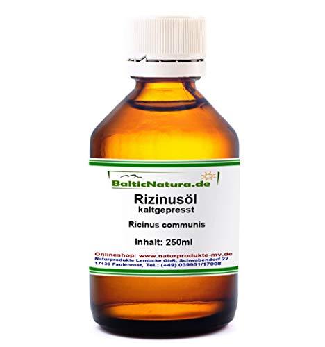 Rizinusöl kaltgepresst (250 ml) Rizinus Öl kosmet. INCI