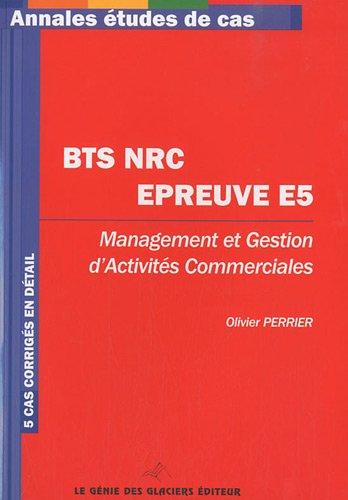 BTS NRC Management et gestion d'activités commerciales