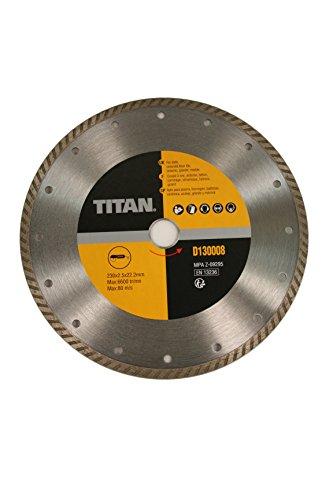 Titan D130008 Turbo-Diamant-Trennscheibe 230mm, Trockenschnitt