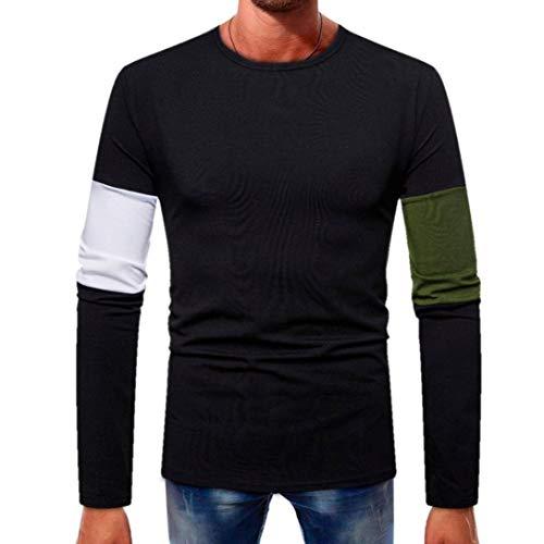2018-Hot-Herren-bergang-Langarmshirts-Herren-Lssig-Baumwollmischung-Tops-Langarm-Shirt-Slim-Fit-V-Ausschnitt-Patchwork-Bluse-Sweatshirt-Langarmshirt-Pullover-Warm-Langarmshirt-TeeM-3XL