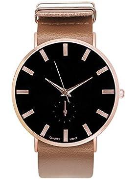 Damenuhr Armbanduhr Trenduhr Farben Rosegold Rose Gold + verschiedene Armbandfarben Beige Coffee Braun Schwarz...