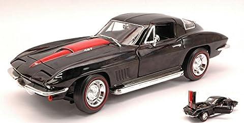 AUTO WORLD AMM1004 CHEVY CORVETTE 427 1967 BLACK/RED 1:18 MODELLINO DIE CAST