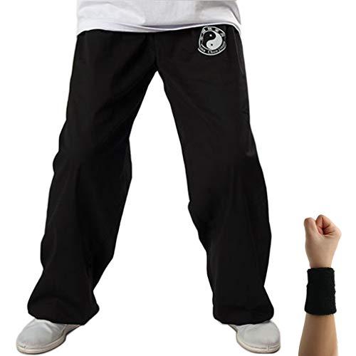 Dee Plus Tai Chi Trainingshose | Damen und Herren Kung Fu Uniformen Kampfsport | Qigong Wing Chun Shaolin Weite Beine Knickerbocker Kleidung -Baumwolle - Kung Fu Uniform