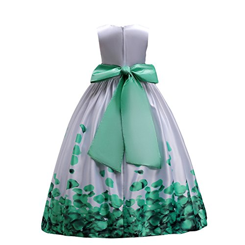 0e9b0632cd9e IBTOM CASTLE Fiore Ragazze estivo Abito Principessa Pageant Vestito da  Cerimonia per la damigella Floreale Matrimonio