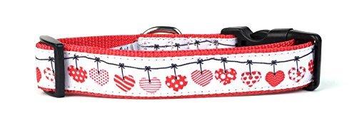 Midlee Valentine Herzen Zum Aufhängen Nylon Band Halsband Hund, Medium