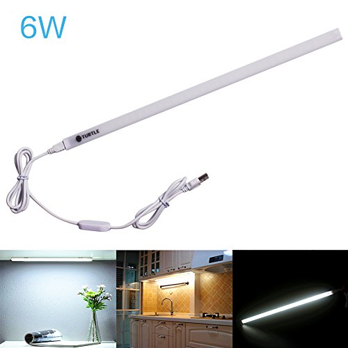 Ryham LED Einbauleuchte Kaltweiß LED Lichtleiste 6W | Mit einem Magnetstreifen Geeignete Lampe für die Küche, hinter Möbel, im Arbeitsraum