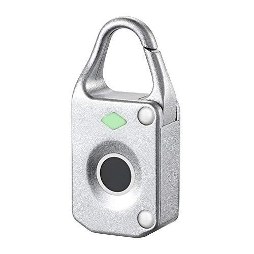 UxradG - Candado de huella dactilar, conexión Bluetooth de metal, antirrobo, impermeable, electrónico, sin llaves, apto para puerta de casa, mochila, maleta, bicicleta, gimnasio, oficina, blanco