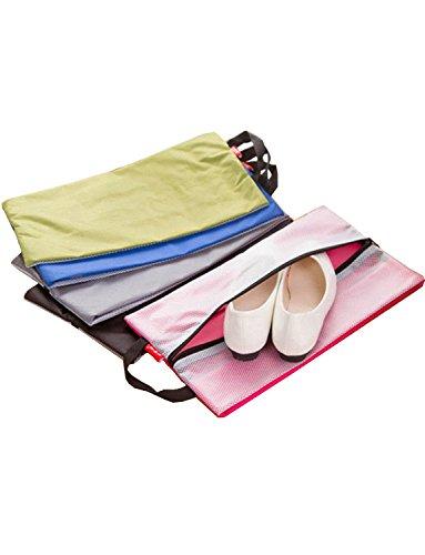 dyss Große Wasserdichte Reise Schuhe Taschen Organizer mit Reißverschluss & #-; 2Stück grau grün