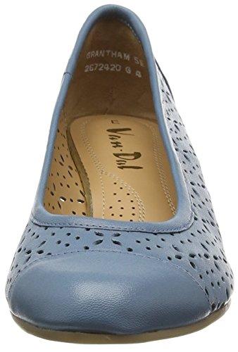 Van Dal Damen Grantham Geschlossene Sandalen mit Keilabsatz Blau (Jeans)