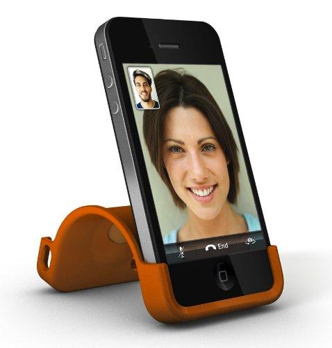 XtremeMac IPP-SS5-13 SnapStand Licorice Schutzhülle für Apple iPhone 4/4S mit Stand-Funktion schwarz orange