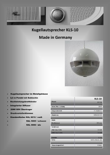 Hamer-Sound-ELA-Kugellautsprecher-KLS-10W