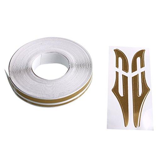 Auto-striping-tape (Wasserdichte Nadelstreifen Tape Decal Steamline Pinstripetape für Autos (Gold))