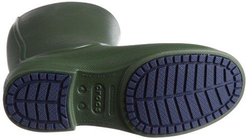 homme Bottes Crocs Wellie pluie Navy Vert de Forest z76AwH