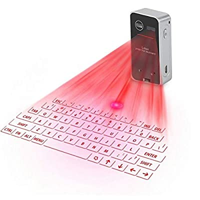 Eboxer Portable keyboard, Portable Virtual Bluetooth Wireless Projection Keyboard for iPad iPhone Android Smart Phones PC Notebook