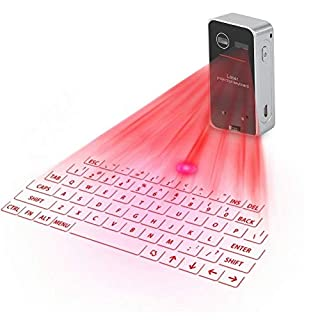 Eboxer Clavier Laser, Mini Clavier Projection sans Fil Portable Clavier Virtuel Bluetooth pour iPad iPhone Android Smartphone PC Portable