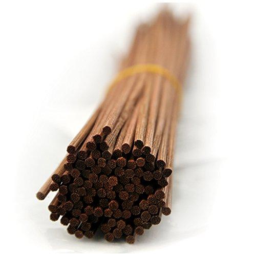 100 Stück Rattanstäbchen Reed Diffusor Stöcke Holz Rattan Reed Sticks (30cm*3mm, braun) (Reed Braun)