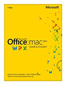 Microsoft Office Mac Home and Student 2011 - 1MAC (Product Key Card ohne Datenträger)