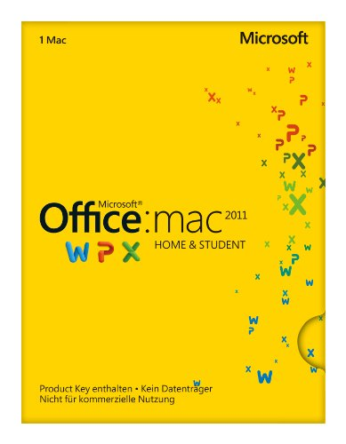 Microsoft Office Mac Home and Student 2011 - 1MAC (Product Key Card...