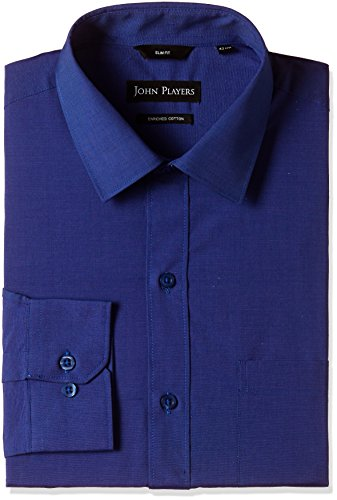 John Players Men's Formal Shirt (8902986942812_JFMWSHA160003_40_Bright Cobalt)