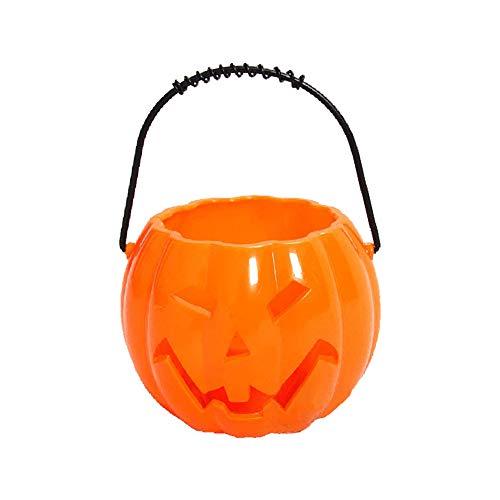 Trifycore Kinder Pumpkin Hollow Süßigkeiteneimer Halloween Kürbis Laterne Kürbis Lustige Voice Control LED orange hängen Eimer Halter für Trick or Treat Produkte