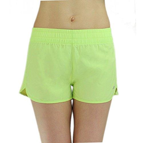 Badeshorts Damen Boardshorts Strandshorts Beach Shorts Kurz Lässige Sommershorts Hotpants (42 / XL, Muster 1 - Seladongrün) (Damen Grüne Hose)