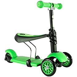 Y-Volution - Patinete YGlider 3 en 1 Verde